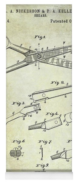 1894 Barbers Shears Patent Yoga Mat