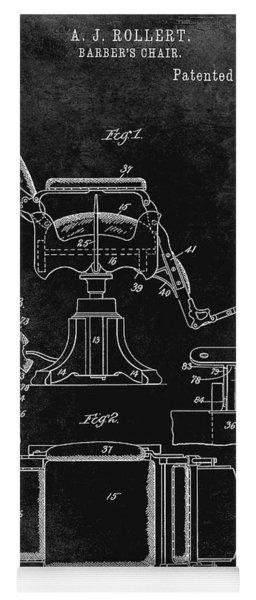 1898 Barber Chair Patent Black Yoga Mat