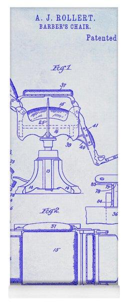 1898 Barber Chair Patent Blueprint Yoga Mat