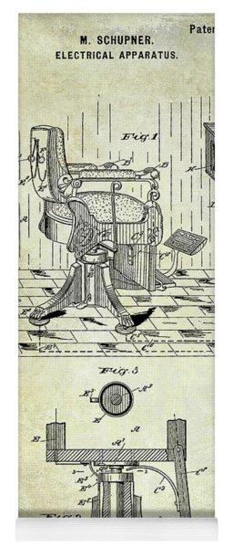1900 Barbers Chair Patent Yoga Mat