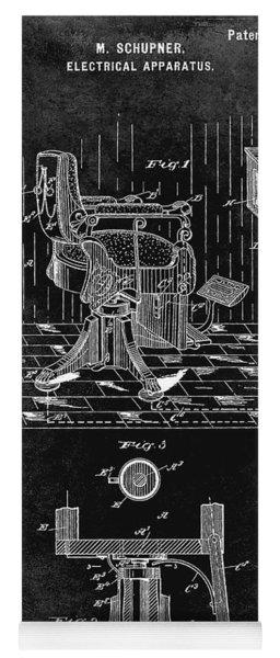 1900 Barber Chair Patent Black Yoga Mat