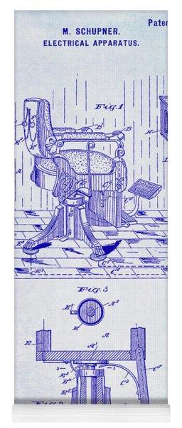 1900 Barber Chair Patent Blueprint Yoga Mat
