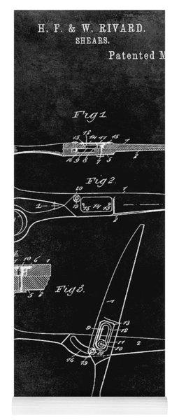 1906 Barbers Shears Patent Black Yoga Mat