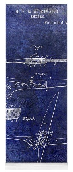 1906 Barbers Shears Patent Blue Yoga Mat