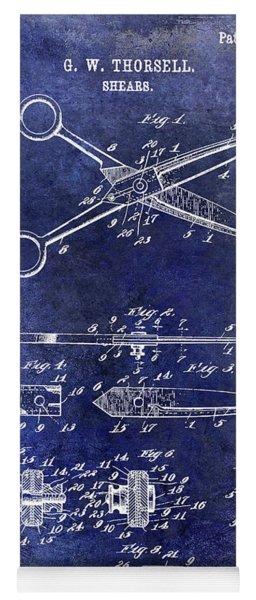 1909 Barber Shears Patent Blue Yoga Mat