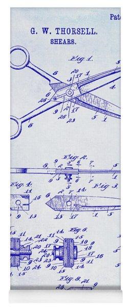 1909 Barber Shears Patent Blueprint Yoga Mat