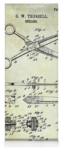 1909 Barber Shears Patent Yoga Mat