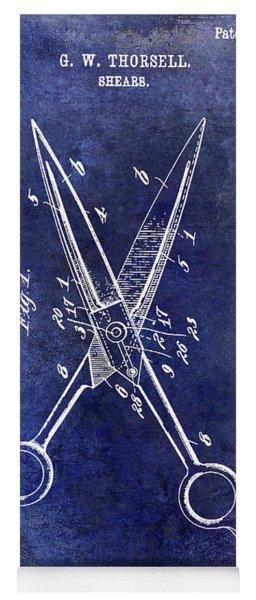 1909 Barbers Shears Patent Blue Yoga Mat