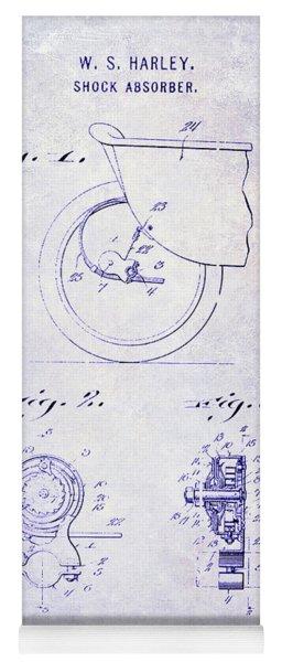 1917 Harley Davidson Motorcycle Shock Absorber Patent Blueprint Yoga Mat