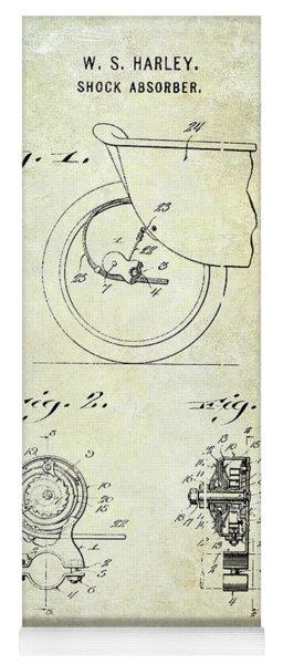 1917 Harley Davidson Motorcycle Shock Absorber Patent Yoga Mat