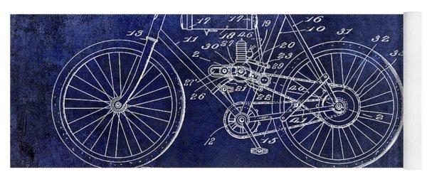1919 Motorcycle Patent Blue Yoga Mat