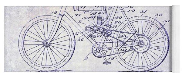1919 Motorcycle Patent Blueprint Yoga Mat