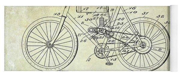 1919 Motorcycle Patent Yoga Mat