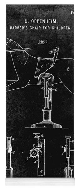 1920 Barber Chair Patent Black Yoga Mat