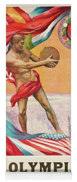 1920 Summer Olympics Vintage Poster Yoga Mat