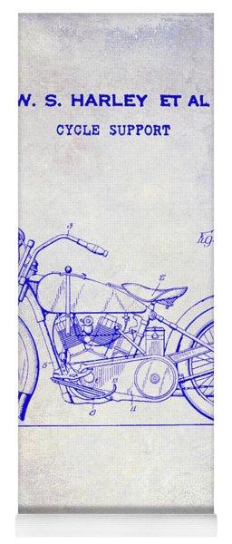 1928 Harley Davidson Motorcycle Patent Blueprint Yoga Mat