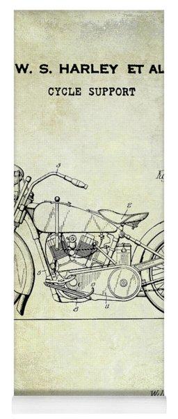1928 Harley Davidson Motorcycle Patent Yoga Mat