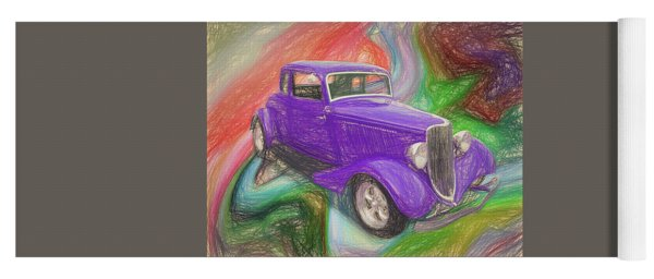 1934 Ford Colored Pencil Yoga Mat