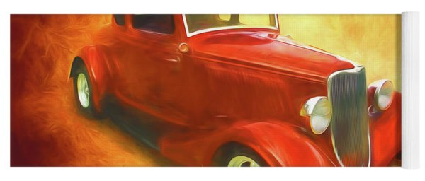 1934 Ford On Fire Yoga Mat