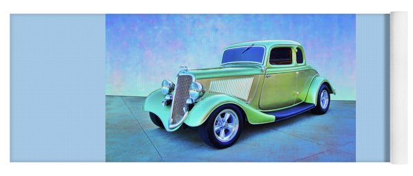 1934 Green Ford Yoga Mat