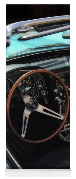 Yoga Mat featuring the photograph 1965 Chevrolet Corvette Convertible - Driver Side by Angie Tirado