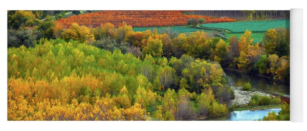 Autumn Colors On The Ebro River Yoga Mat