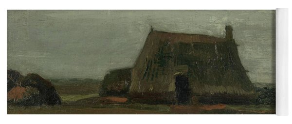 Farm With Stacks Of Peat Yoga Mat
