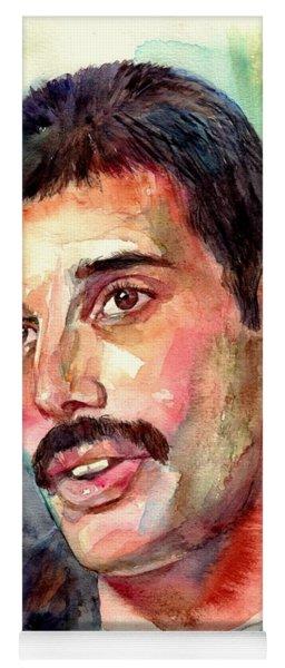 Freddie Mercury Watercolor Yoga Mat