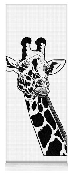 Giraffe - Ink Illustration Yoga Mat