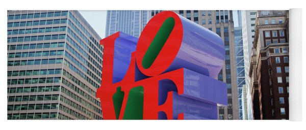 Yoga Mat featuring the photograph Love In The City - Philadelphia by Bill Cannon