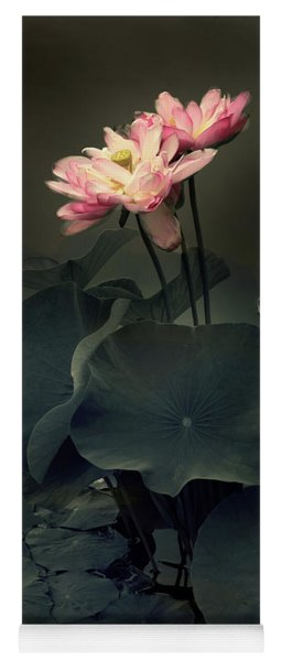 Yoga Mat featuring the photograph Midnight Lotus by Jessica Jenney