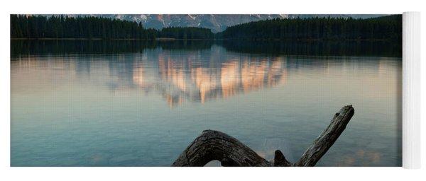 Mount Rundle And Two Jack Lake Yoga Mat