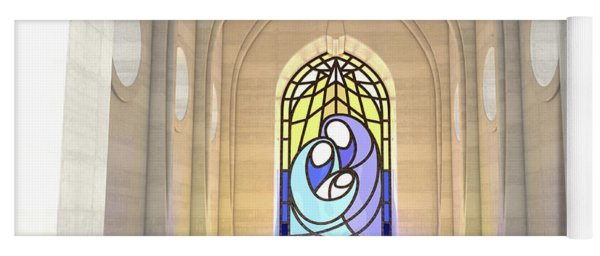 Stained Glass Window Nativity Scene Yoga Mat