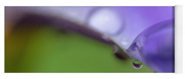 Water Drops On Iris Yoga Mat