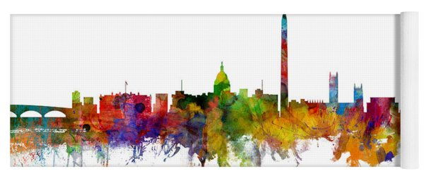 Washington Dc Skyline Yoga Mat