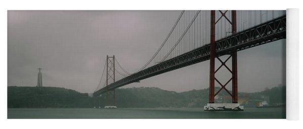 25 April Bridge, Lisbon, Portugal Yoga Mat