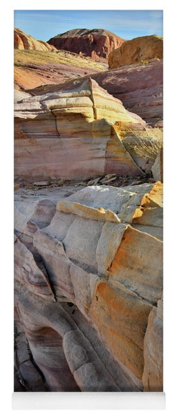 Band Of Gold In Valley Of Fire Yoga Mat