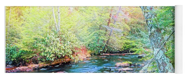 Pocono Mountain Stream, Pennsylvania Yoga Mat
