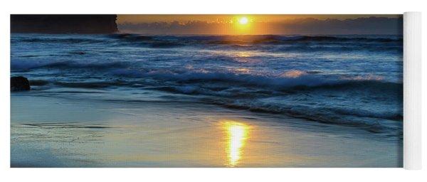 Sunrise Lights Up The Sea Yoga Mat