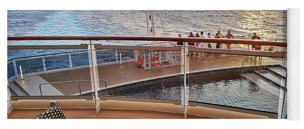 Sunset On A Caribbean Cruise On Msc Seaside Yoga Mat