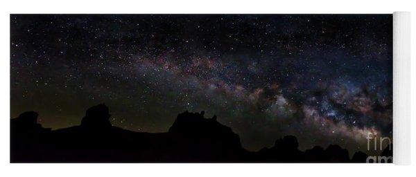 Trona Pinnacles Milky Way Yoga Mat