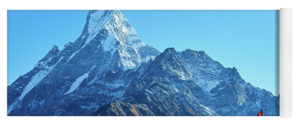 Machapuchare Mountain Fishtail In Himalayas Range Nepal Yoga Mat