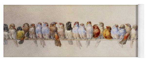 A Perch Of Birds  Yoga Mat