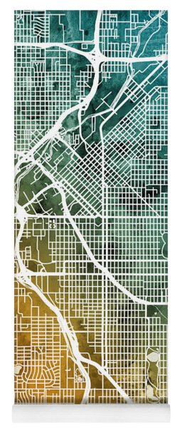 Denver Colorado Street Map Yoga Mat