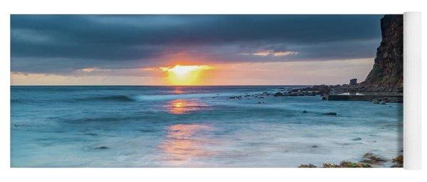 Sunrise Seascape And Cloudy Sky Yoga Mat