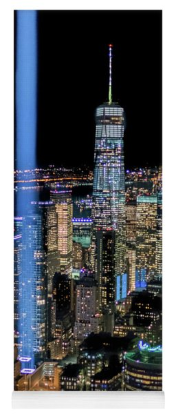 Yoga Mat featuring the photograph 911 Lights by Francisco Gomez