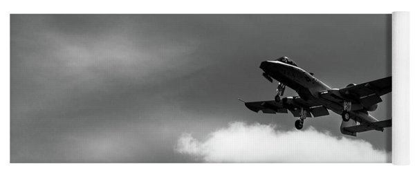 Yoga Mat featuring the photograph A-10 Slow Pass by Doug Camara