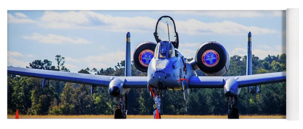 Yoga Mat featuring the photograph A-10c Thunderbolt II by Doug Camara