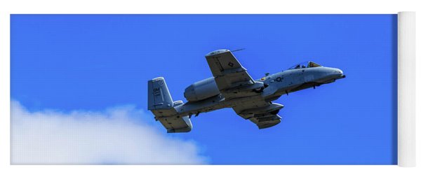 Yoga Mat featuring the photograph A-10c Thunderbolt II In Flight by Doug Camara