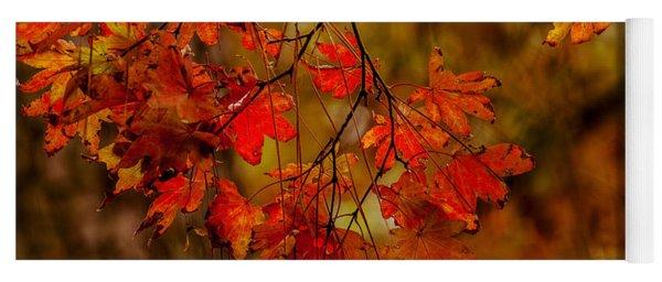 A Branch Of Autumn Yoga Mat